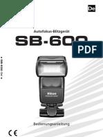 Handbuch Blitz SB-600