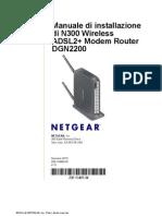 Manuale di installazione di N300 Wireless ADSL2+ Modem Router DGN2200