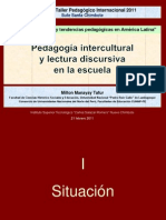 CONFERENCIA pedagogía intercultural y lectura discursiva 21.02.11