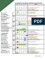 School Calendar 2011 - 2012
