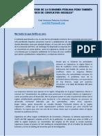 La Minerias Motor de La Economia Peruana ,Pero Tambien Focos de Conflictos Sociales