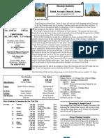 St. Joseph's December 18, 2011 Bulletin