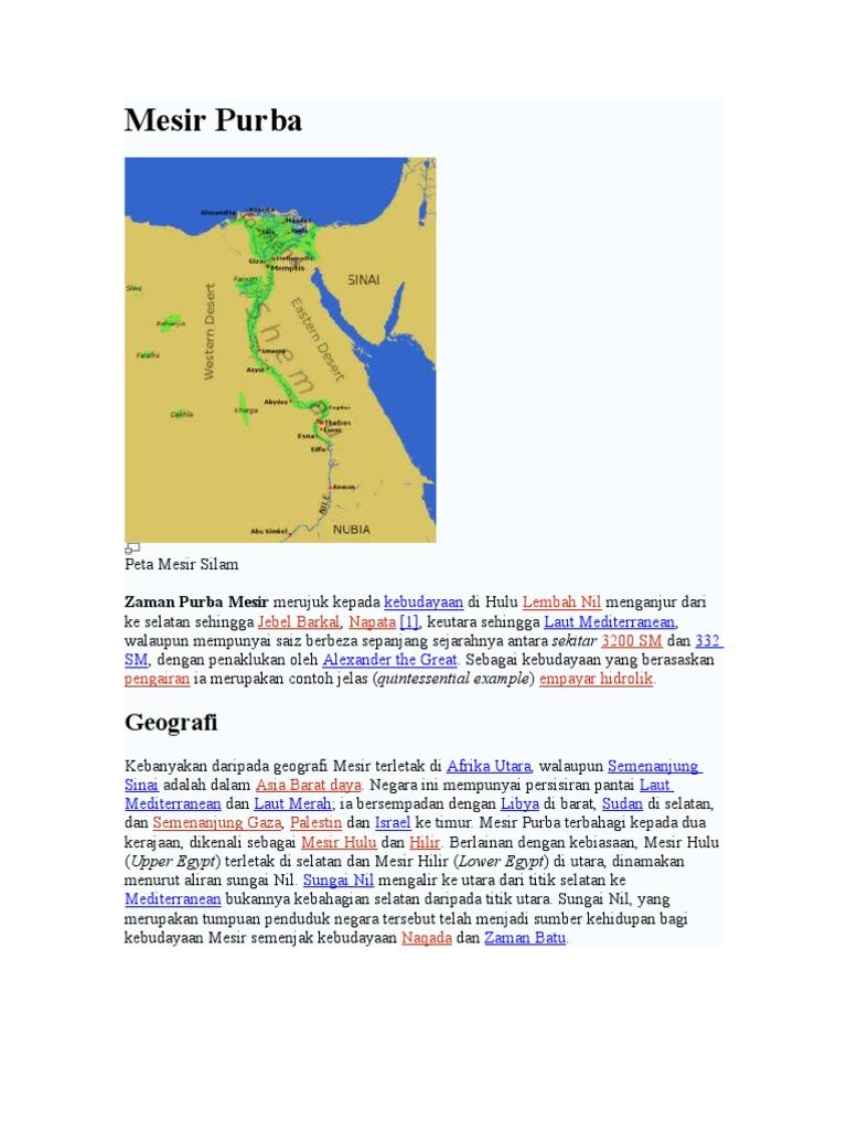 Sejarah Mesir Purba