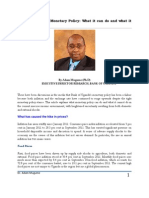Inflation and the BOU Monetary Policy Response