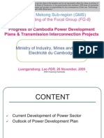 Progress of Cambodia Power Development (2009)