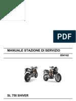 Aprilia SL 750 Shiver Workshop Manual (Italy)
