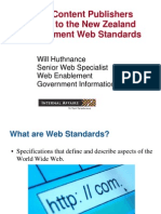 Publishers Guide Web Standards Notes