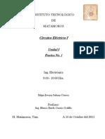 Circuitos Eléctricos I - Unidad I (Practica #1)