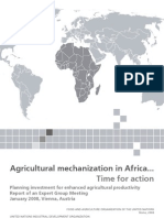 Agricultural Mechanization in Africa