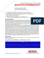 High Speed DP SRAM Datasheet