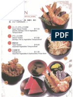 Ten Restaurant Menu