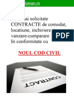 Cele Mai Solicit Ate 12 Modele de Contracte Conform Noului Cod Civil[1]