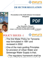 Water Sector Regulation