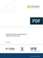 UKOOA, Guidelines for the Management of Safety Critical Elements 2007, 2007-04-10