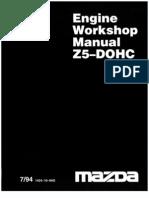 Mazda Z5 DOHC Engine Workshop Manual