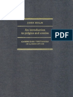 An Introduction to Pidgins and Creoles (Cambridge Textbooks in Linguistics)
