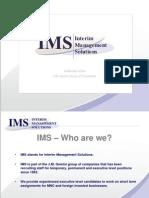 Interim Management Solutions Presentation