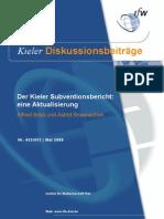 Kieler Subventionsbericht