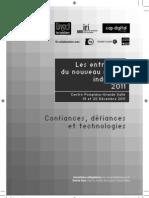 Programme des Entretiens du Nouveau Monde Industriel 2011