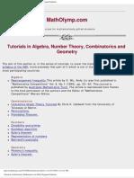 Math Olympiad Tutorials