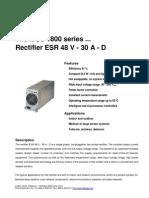 Delta ESR48V 30A D Rectifier