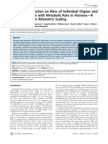 Effect of Constitution on Mass of Individual Organs and Their Association With Metabolic Rate in Humans-A Detailed View on Allometric Scaling