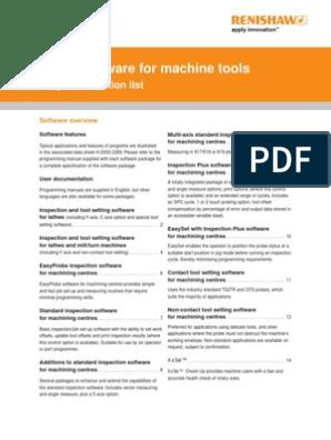 Probe Software for Machine Tools Data Sheet - Program