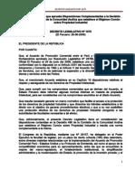 Decreto Legislativo que aprueba Disposiciones Complementarias a la Decisión 486 de la Comisión de la Comunidad Andina que establece el Régimen Común sobre Propiedad Industrial