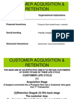 Customer Acquisition & Retention