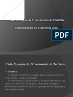 Carta Europeia do ordenamento do território  Carta europeia da autonomia local