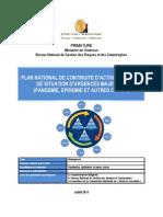Plan national de continuité d'activités en cas de situation d'urgences majeures - (BNGRC, IASC, PNUD - 2011)