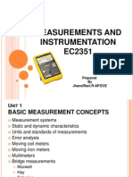 Measurements and Instrumentation Unit 1