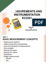 Measurements and Instrumentation Unit 1