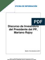 PP - Discurso de Investidura de Mariano Rajoy - 19-12-2011