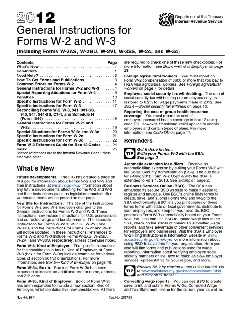 2012 w2 w3 IRS form Instructions | Withholding Tax | Federal ...