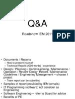 Q&A IEM