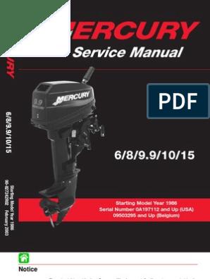 Mercury Download 1986 2003-6-8 9-9-10 15 Hp Service Manual 2