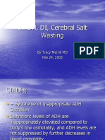 SIADH, DI, Cerebral Salt Wasting