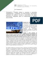 Transporte y Gestión. Digitalización y grabación de documentos, escaneado, captura de datos.