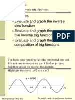 4-7 Inverse Trig Functions