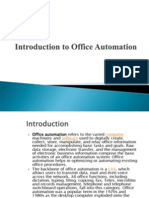 Introduction to Office Automation Unit-1 | Microsoft Word