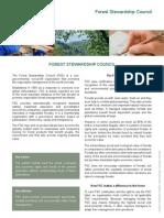 Forest Stewardship Council Fact Sheet En