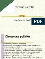 OBRAZOVNA POLITIKA