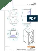 Projetos Caixas Acústicas - Linha Profissional - Selenium - PAS2-11