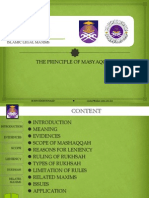 Principle of Masyaqqah