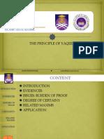 Principle of Yaqeen