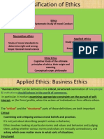 Classification & Theories of Ethics