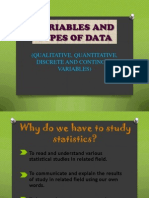 Variables and Type of Data