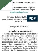 2- Resenha Segunda - Manutenção Industrial