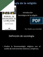 Sociología de la religión (Introducción)
